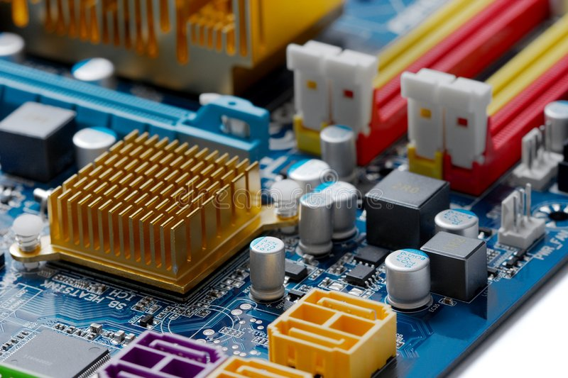 Download Computer mainbord stock photo. Image of circuit, close - 8462420