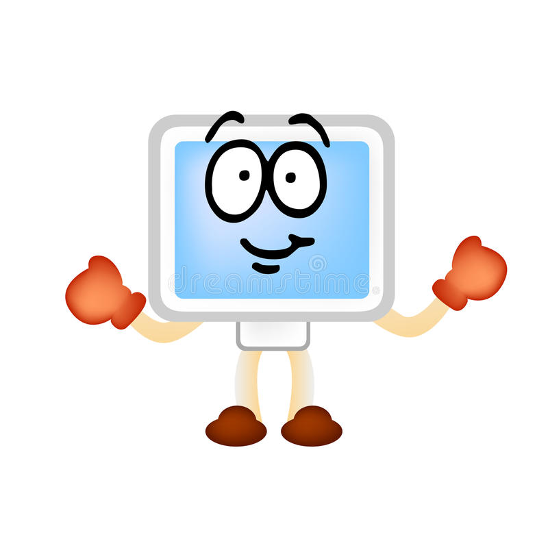 Free Computer Man Vector Mascotte Stock Image - 9836671