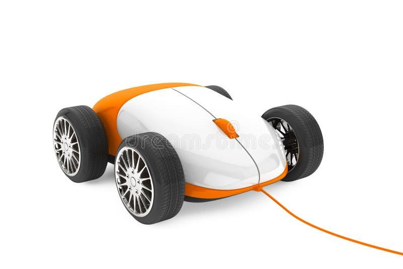 Computer-Maus auf Räder lizenzfreie abbildung