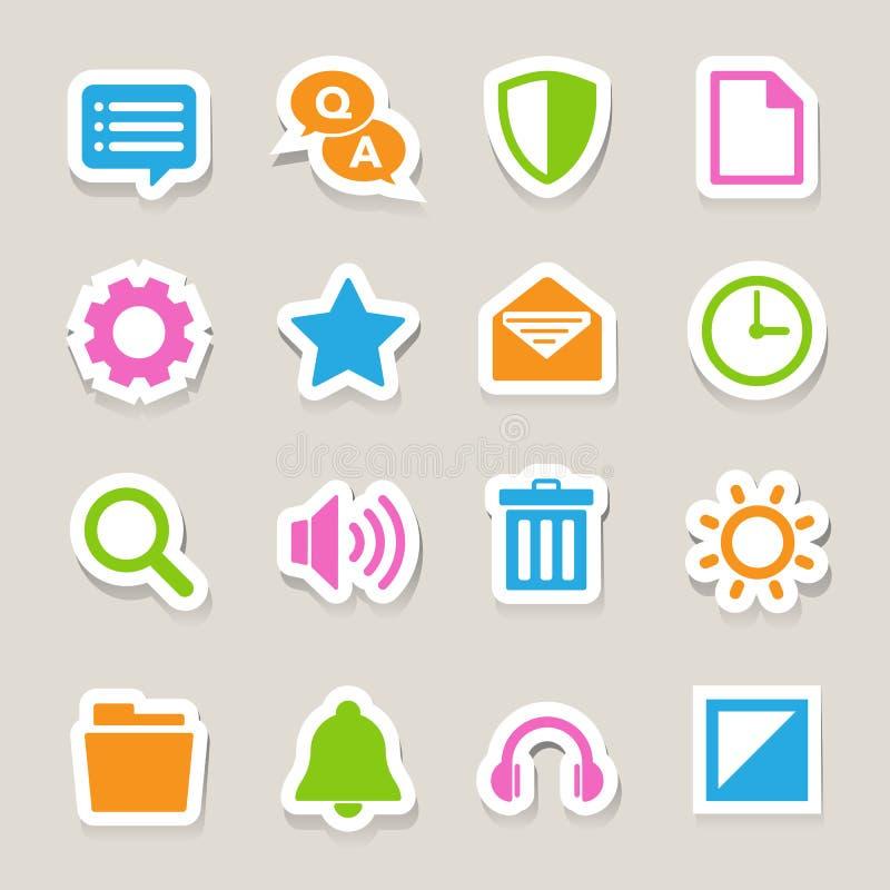 Computer menu icons set. Illustration eps 10 stock illustration