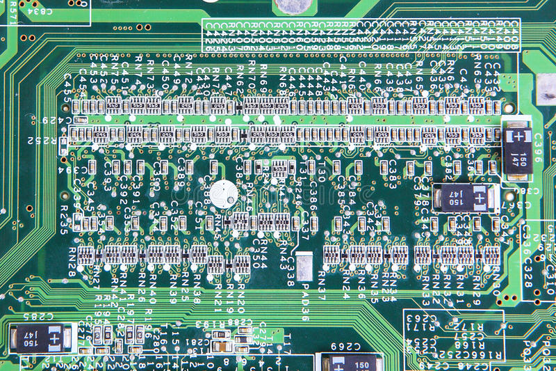 computer micro- kringsraad royalty-vrije stock foto