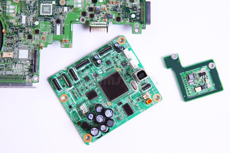 computer micro- kringsraad stock foto