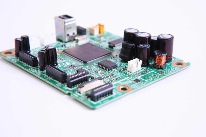 computer micro- kringsraad stock afbeelding