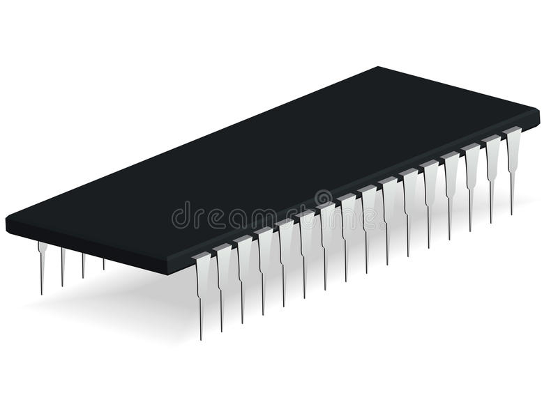 Download Computer microchip stock vector. Illustration of industry - 26465769