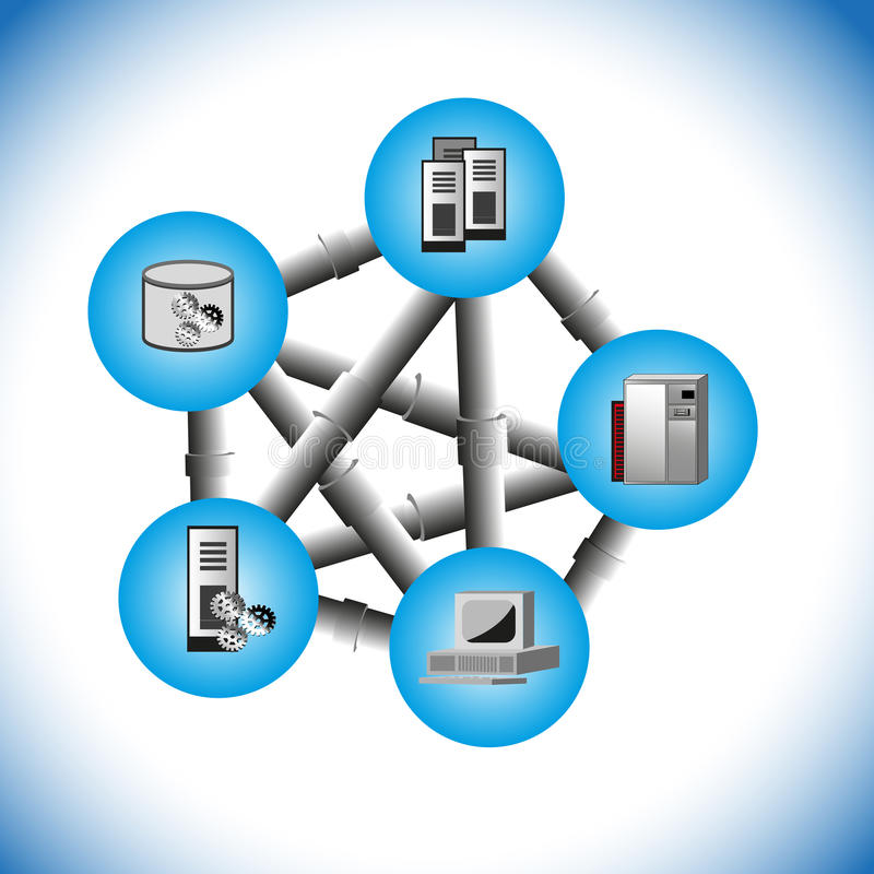 Computer Middleware Point to Point Integration royalty free illustration