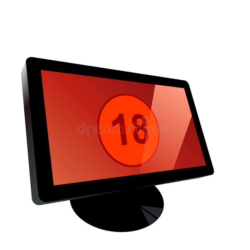 Download Computer monitor stock vector. Illustration of computer - 8596414