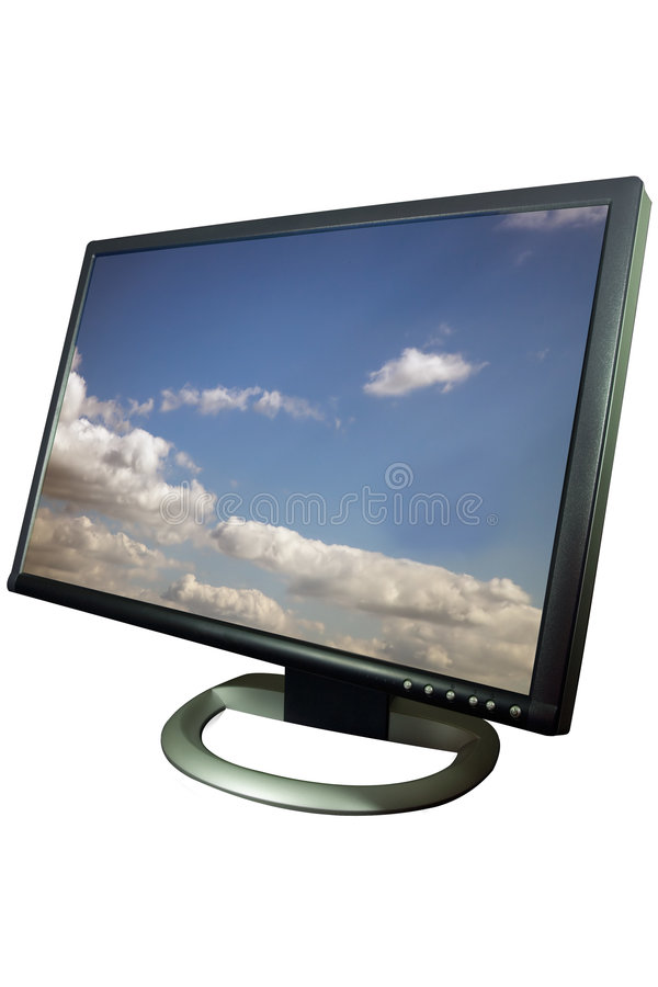 Download Computer monitor display stock illustration. Image of medium - 3966215