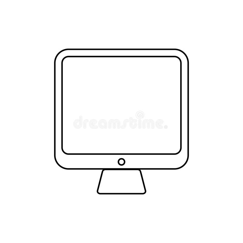 computer monitor icon. Element of Media for mobile concept and web apps icon. Thin line icon for website design and development, vector illustration