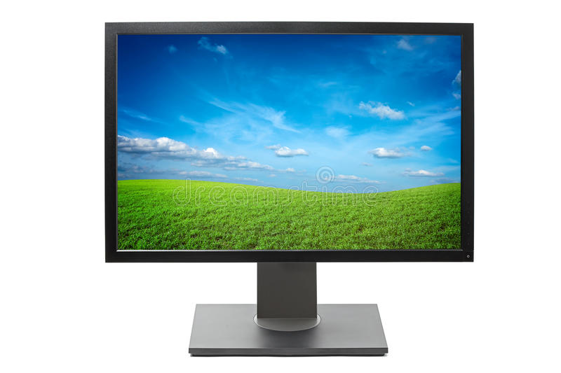 Computer monitor isolated stock photo