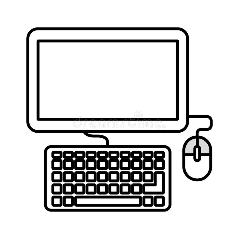 Computer monitor isolated icon design. Illustration graphic vector illustration