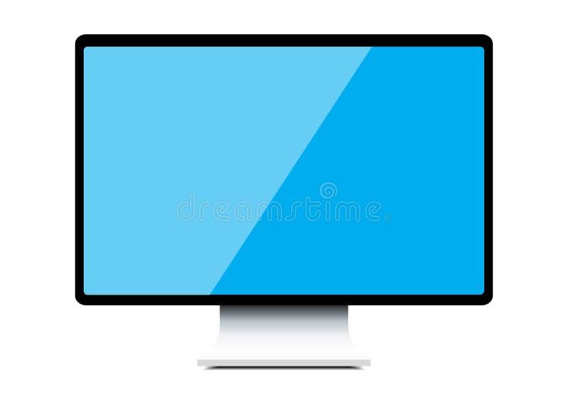 Computer monitor. Isolated illustration on white background stock illustration