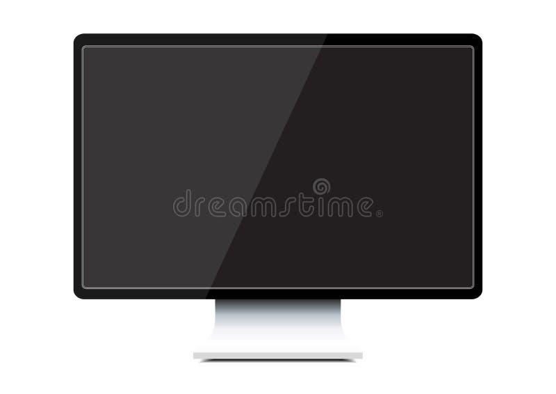 Computer monitor. Isolated illustration on white background vector illustration