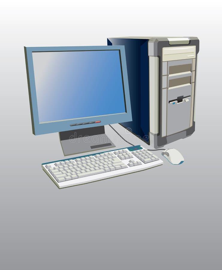 Computer monitor mouse. Computer illustration, monitor mouse desktop keyboard royalty free illustration