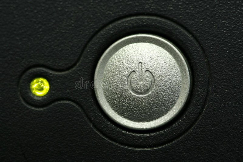 Monitor Power Button : Computer monitor power button macro stock photo image of
