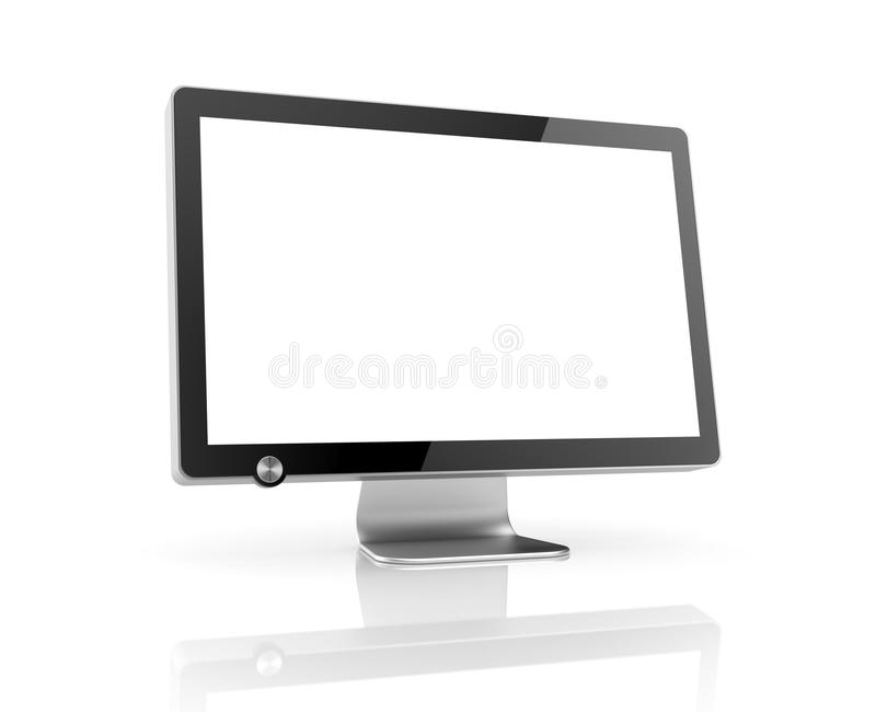Computer Monitor with reflection vector illustration