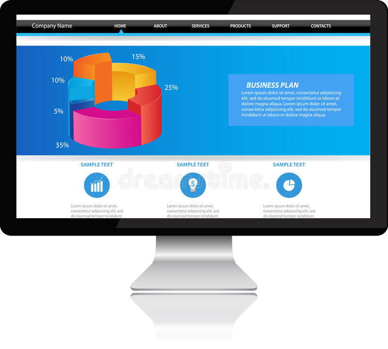 Computer monitor stock illustration
