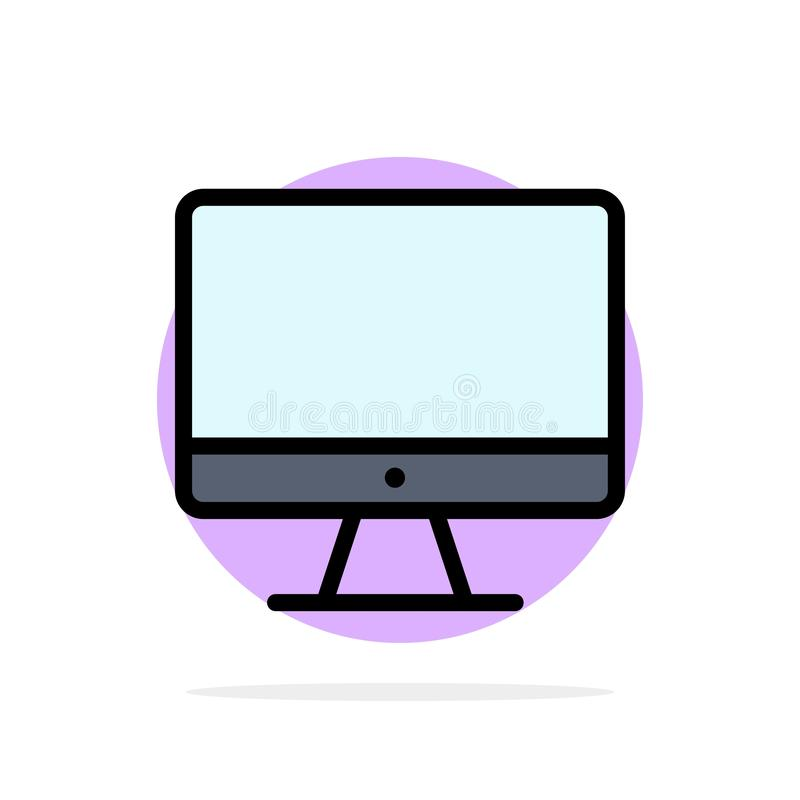 Computer, Monitor, Screen, Hardware Abstract Circle Background Flat color Icon stock illustration