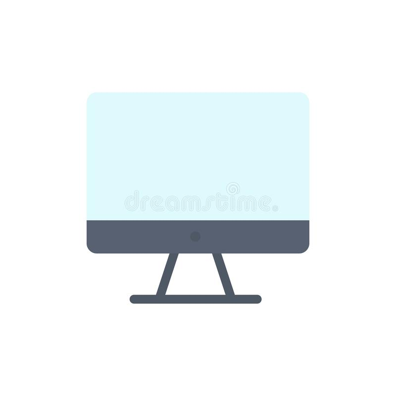 Computer, Monitor, Screen, Hardware  Flat Color Icon. Vector icon banner Template royalty free illustration