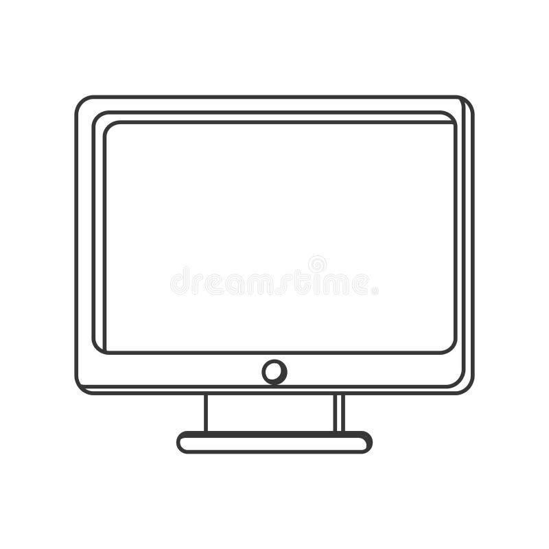 Computer monitor screen icon. Isolated illustration vector illustration