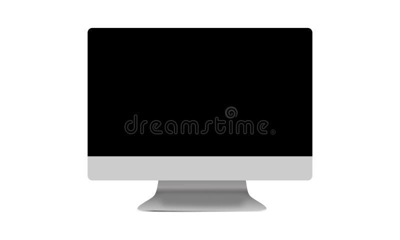 Computer-Monitor, wie Mac mit leerem Bildschirm Film, Grafik Auch im corel abgehobenen Betrag lizenzfreie abbildung