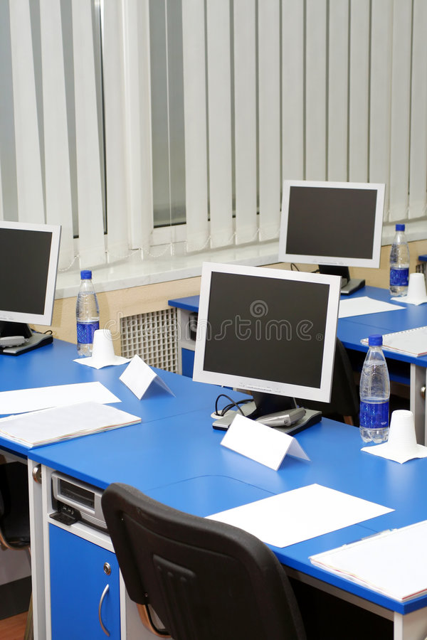 Download Computer Monitors In The Study Room Stock Image - Image: 3724541