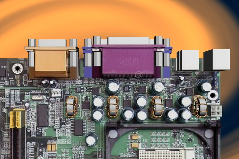Download Computer motherboard stock illustration. Image of component - 5627444