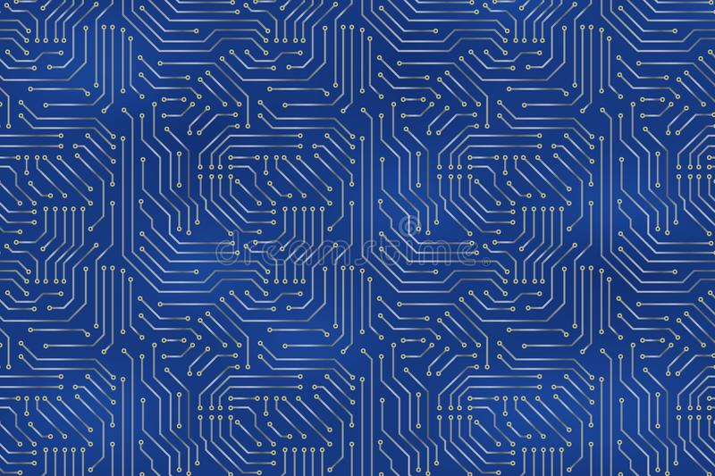 Computer motherboard background. With circuit board electronic elements. Chip electronic pattern for computer technology royalty free illustration