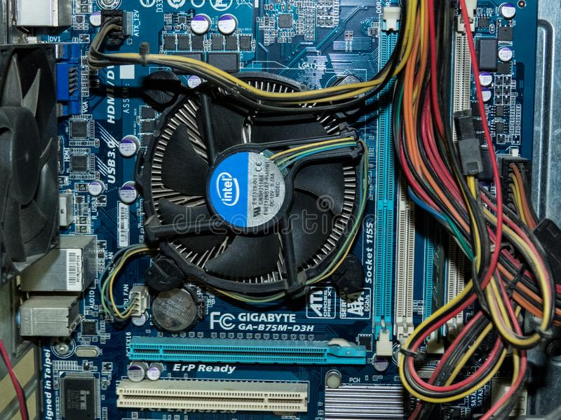 Computer Motherboard & Hardware Component. royalty free stock photos