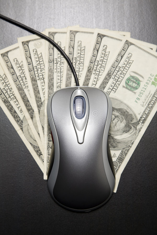 Download Computer Mouse And $100 Dollar Bills Stock Images - Image: 9323514