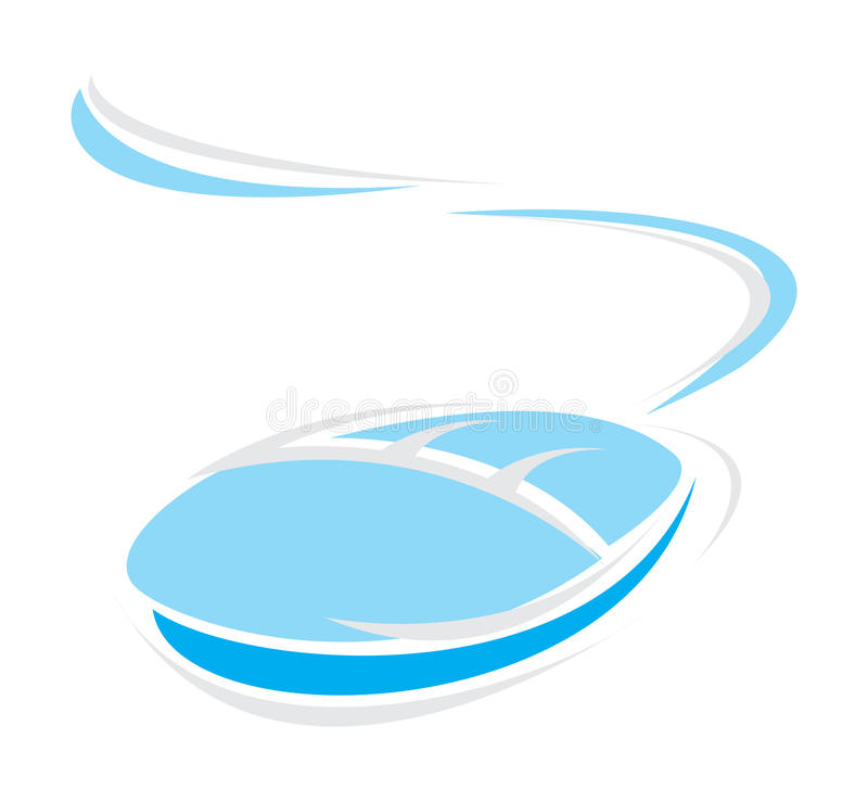 Computer mouse. The computer mouse of blue colour. A illustration royalty free illustration