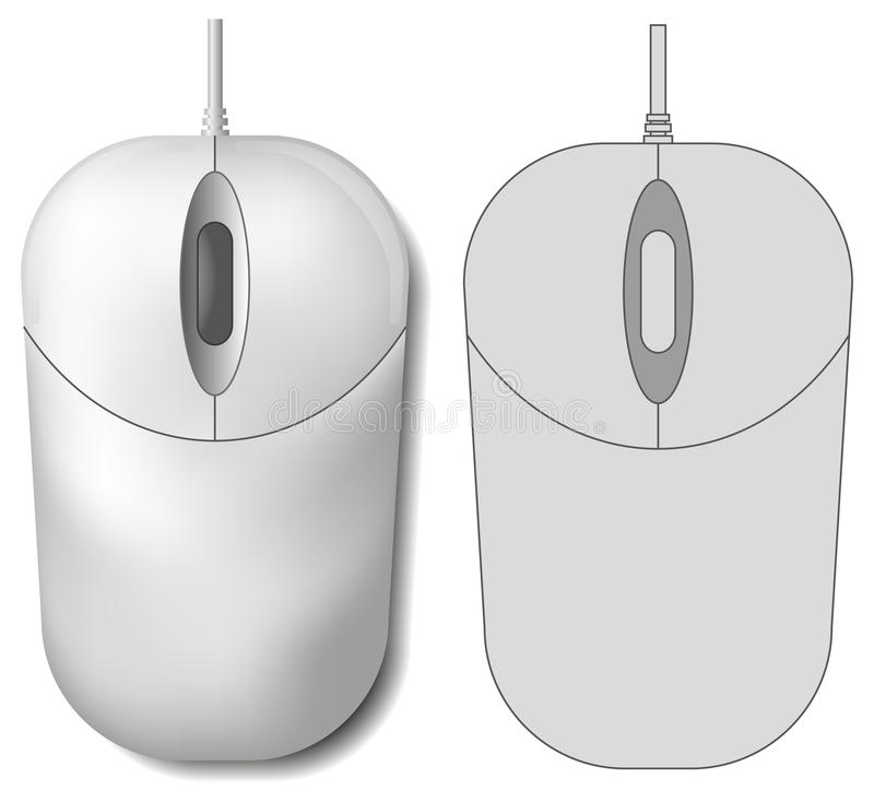 Computer mouse. Vector Computer mouse 3d and shape vector illustration