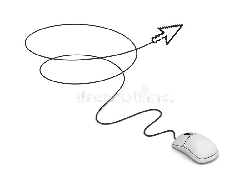 Download Computer Mouse And Arrow Cursor Stock Illustration - Image: 21583969