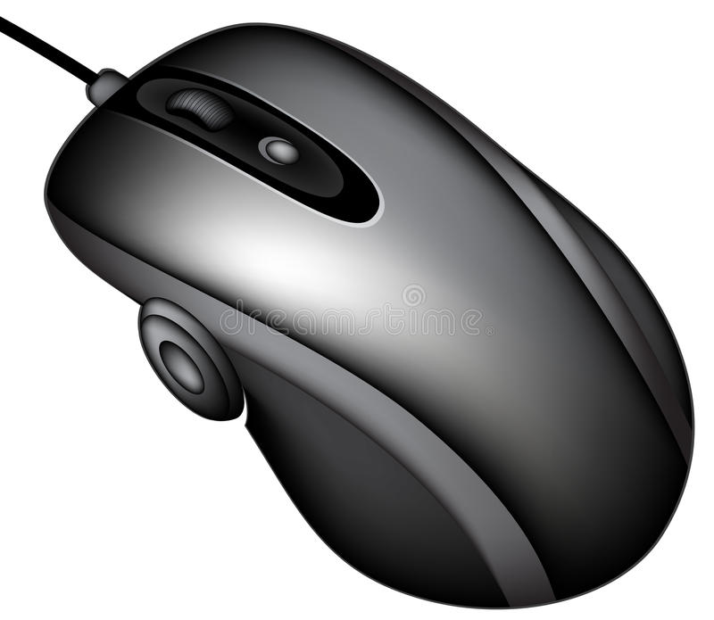 Computer mouse. Detailed image of a computer mouse, this illustration may be useful as designer work vector illustration