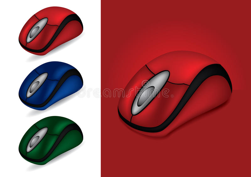 Computer Mouse in different colors. Illustration vector illustration