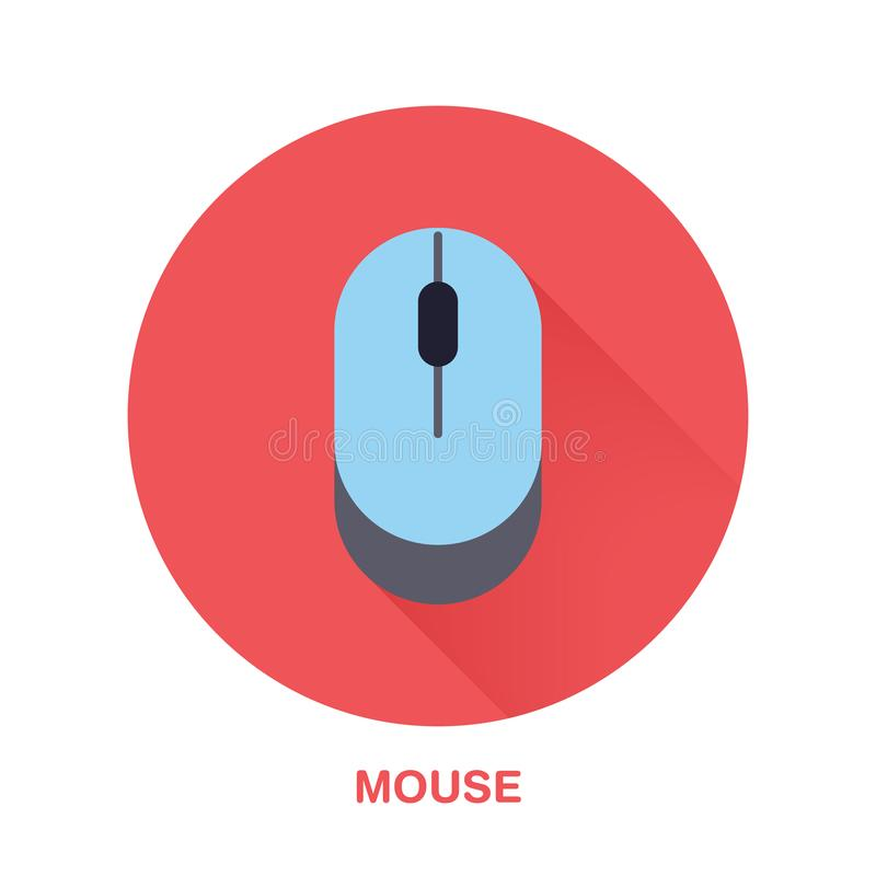 Computer Mouse Flat Style Icon. Wireless Technology Device Sign ...