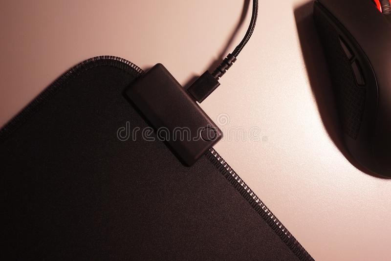 Computer mouse for gamers, can be used in games and on a personal computer. Details and close-up royalty free stock photos