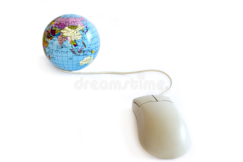 Download Computer mouse and globe stock image. Image of explorer - 4699575