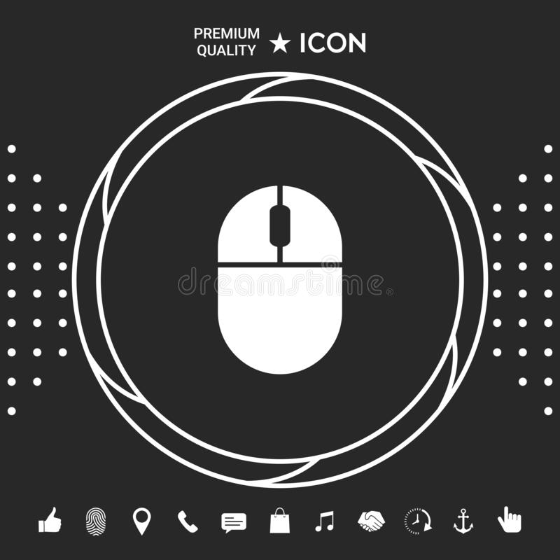 Computer mouse icon. Element for your design royalty free illustration