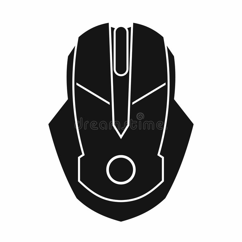 Computer mouse icon, simple style. Computer mouse icon in simple style on a white background vector illustration