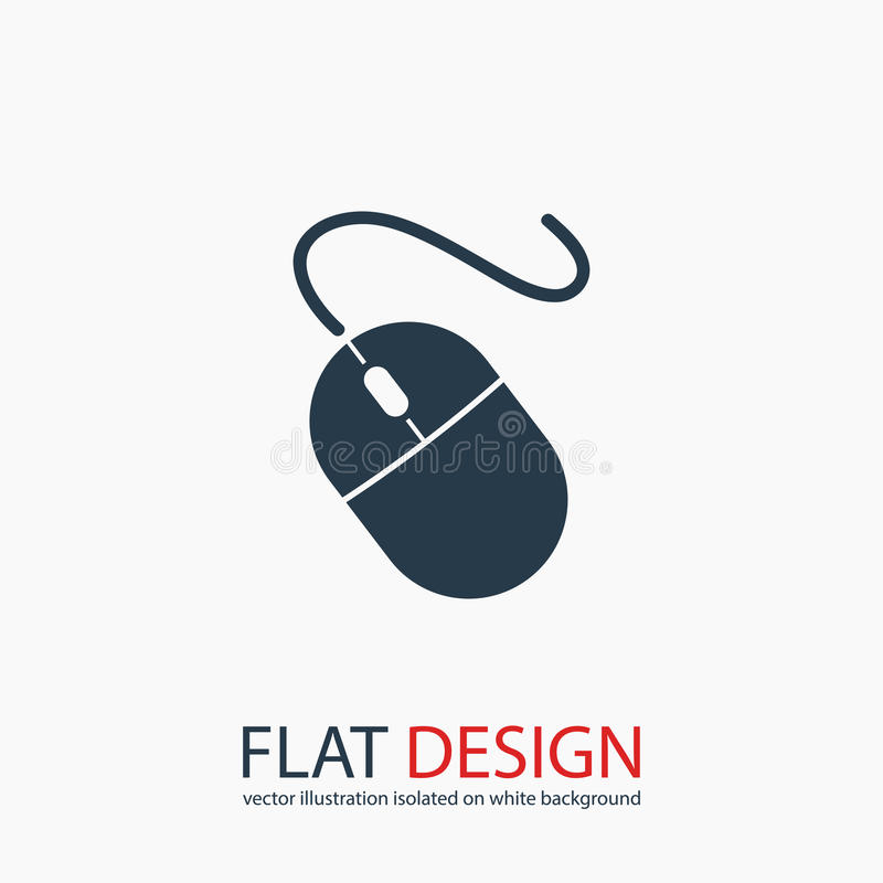 Computer mouse icon, vector illustration. Flat design style stock image