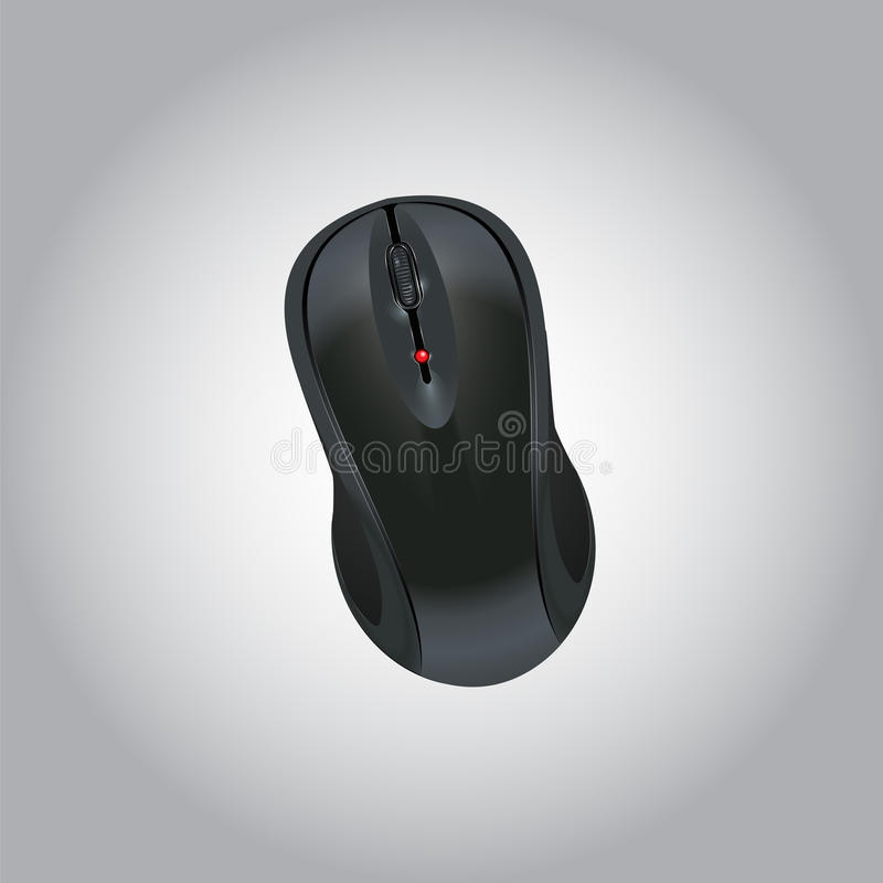 Computer Mouse Icon. Wireless Mouse. Realistic Image. Made in vector illustration stock illustration