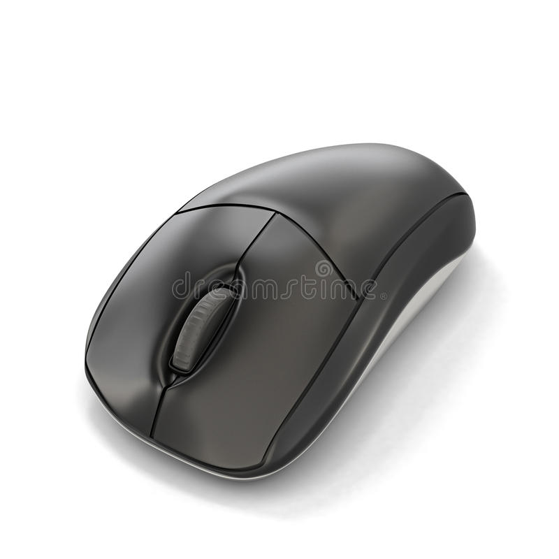 Computer mouse. Isolated on white background. 3d illustration royalty free illustration