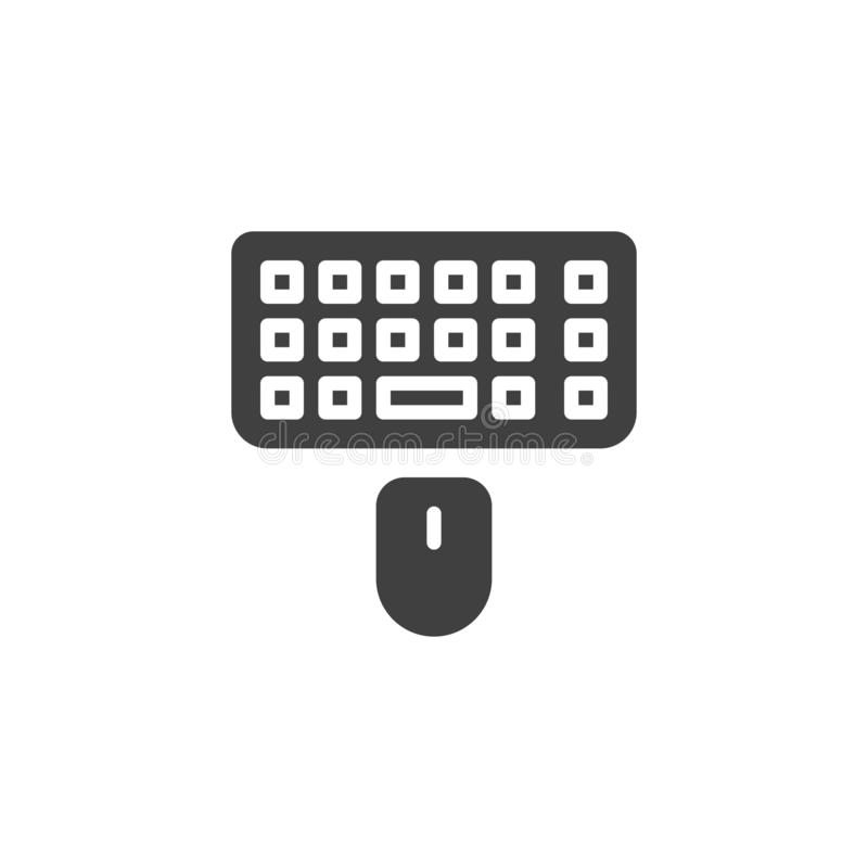 Computer mouse and keyboard vector icon vector illustration