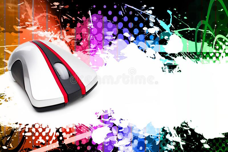 Download Computer Mouse Layout stock illustration. Image of halftone - 11858717