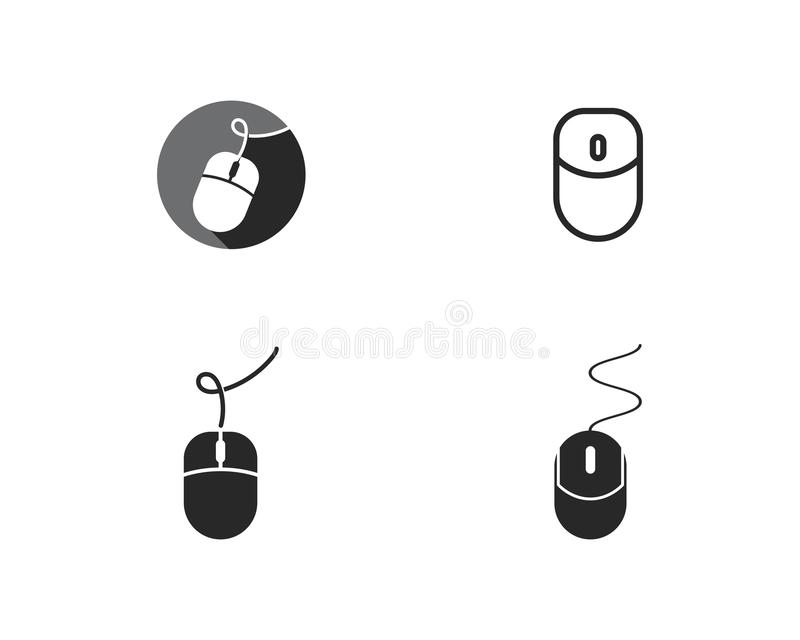 Computer mouse logo. Vector template vector illustration