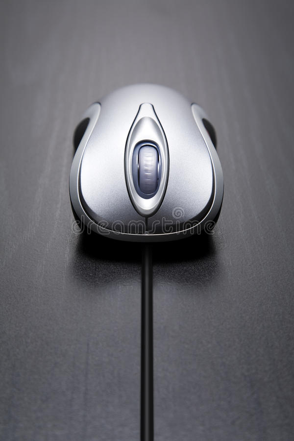 Computer mouse with long cord stock photography