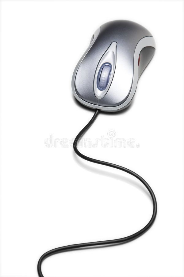 Download Computer Mouse With Long Cord Stock Photo - Image: 9236720