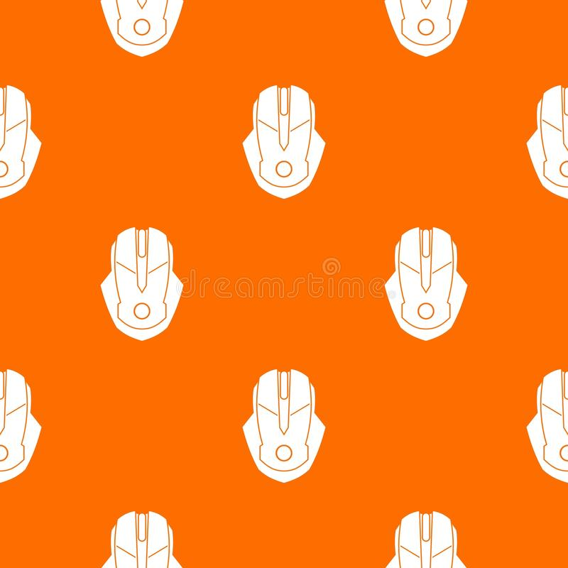 Computer mouse pattern seamless. Computer mouse pattern repeat seamless in orange color for any design. Vector geometric illustration vector illustration