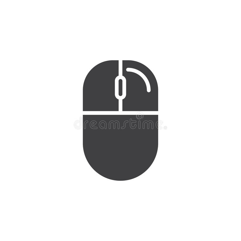 Computer Mouse Right Click Icon Vector Stock Vector Illustration