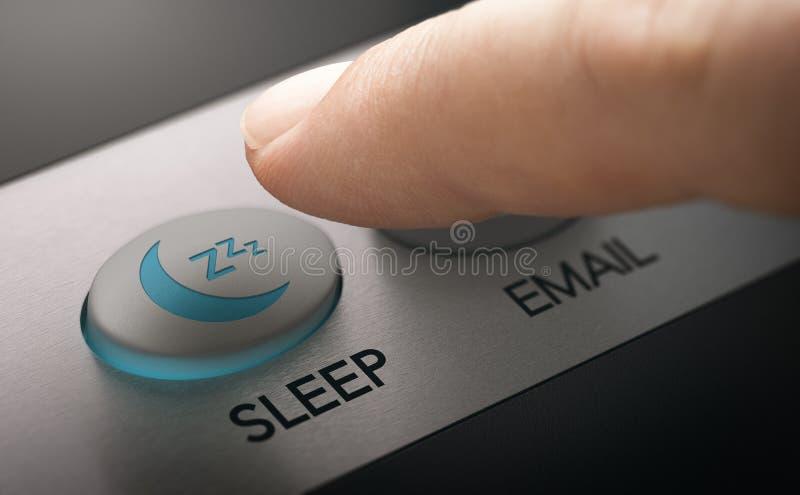 Computer naar slaapstand overschakelen stock fotografie